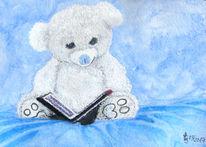 Teddy, Malerei, Decke, Aquarell
