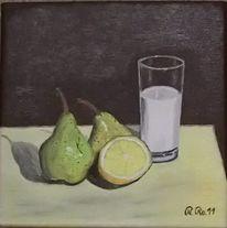 Ölmalerei, Malerei, Birne, Milch