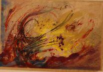 Gouachemalerei, Pastellmalerei, Entladung, Mischtechnik