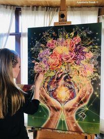 Sacred geometry, Liebe, Agniheart, Rose