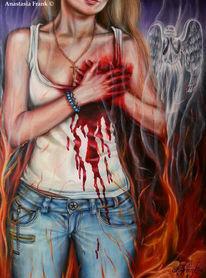 Leid, Flammen, Gott, Gebrochenes herz