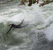 Surfen, Eisbach, Welle, Fotografie