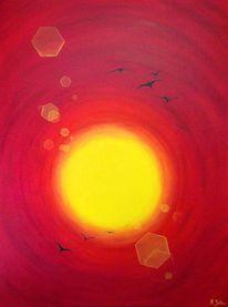 Abstrakt, Kreis, Ölmalerei, Malerei