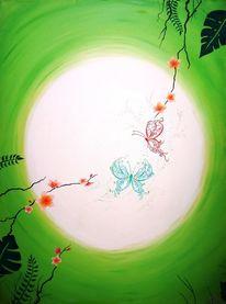 Ölmalerei, Abstrakt, Kreis, Malerei
