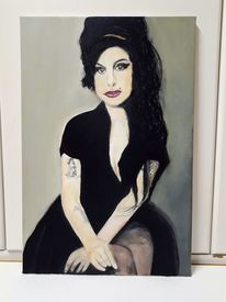 Acrylmalerei, Amy winehouse, Pastellmalerei, Malerei