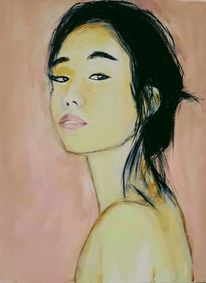 Japanerin, Acrylmalerei, Malerei, Welt