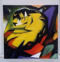 Kopie, Franz marc, Tiger, Malerei