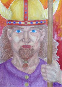 Symbolisch, Farben, Krieger, Zeichnungen