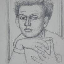Portrait, Hommage, Schielen, Zeichnung