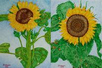 Malerei, Zeichnung, Sonnenblumen