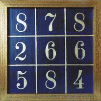 Zahlen, Quadrat, Aufsteller, Malerei