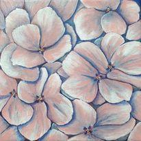 Hortensien, Blumen, Blüte, Rosa