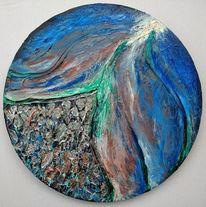 Struktur, Blau, Fließen, Grün