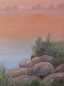 Wasser, Nebel, Licht, Malerei
