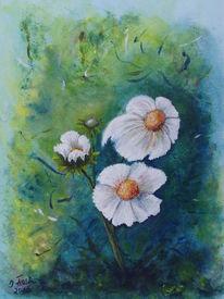 Blumen, Blau, Blüte, Knospe