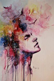 Regen, Gedanken, Aquarellmalerei, Rauch