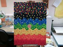 Acrylmalerei, Chakra, Psychedelisch, Malerei
