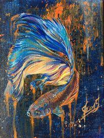 Fisch, Tiere, Wasser, Malerei
