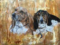 Tiere, Hund, Portrait, Malerei