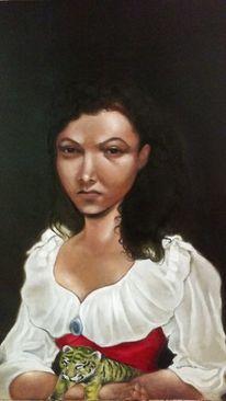 Portrait, Ölmalerei, Malerei, Baby