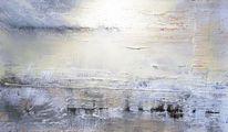 Acrylmalerei, Grau, Abstrakt, Landschaft
