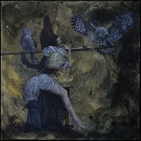 Tod, Surreal, Tracht, Acrylmalerei