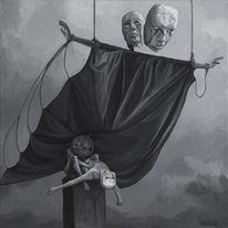 Figural, Surreal, Malerei, Acrylmalerei