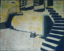 Treppe, Keller, Bauernhof, Flugzeug