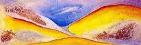 Riss, Struktur, Abstrakt, Acrylmalerei