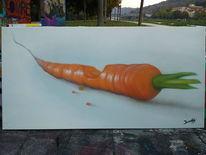 Veganismus, Karotte, Malerei, Gemüse