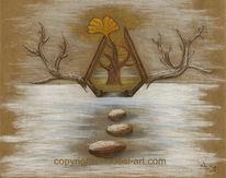 Baum, Pastellmalerei, Ginkgo, Klima