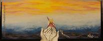 Sehnsucht nach glück, Hadesl, Acrylmalerei, Malerei