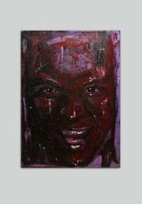 Mann, Acrylmalerei, Rot, Malerei