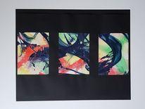 Mischtechnik, Acrylmalerei, Collage, Malerei