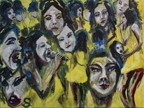 Sängerin, Björk, Musik, Malerei