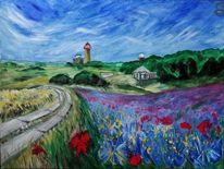 Farben, Blumen, Vitt, Malerei