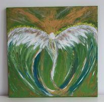 Acrylmalerei, Malerei, Engel,