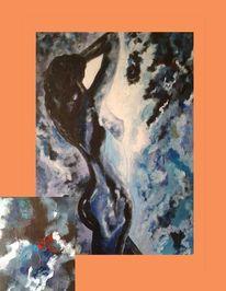 Abstrakt, Blau, Frau, Gemälde