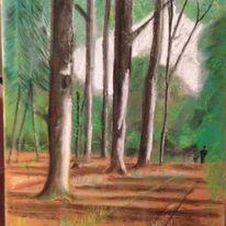 Zeichnung, Pastellmalerei, Landschaft, Zeichnungen