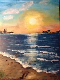 Ölmalerei, Landschaft, Malerei, Lagune