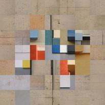 Digital, Collage, Warme farbtöne, Tempelhof