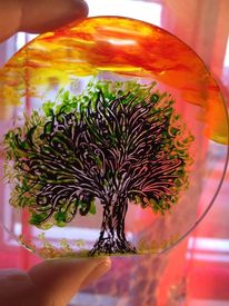 Baum, Natur, Malen, Malerei