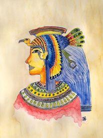 Pharao, Ramses, Geschichte, Aquarellmalerei