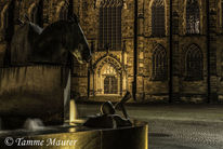 Fotografie, Kirche, Nacht, Gold