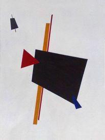 Suprematismus, Lauer, Leinen, Abstrakt