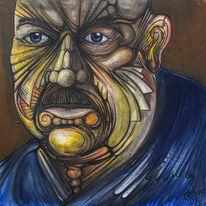 Meditation, Steinbeißer, Portrait, Malerei