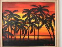 Palmen, Sonne, Meer, Malerei