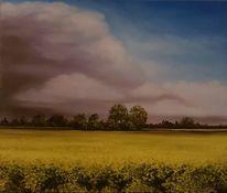 Raps, Gewitter, Wolken, Malerei
