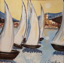 Segelboot, Sommer, Sonne, Malerei