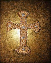 Abstrakt, Malerei, Acrylmalerei, Kreuz